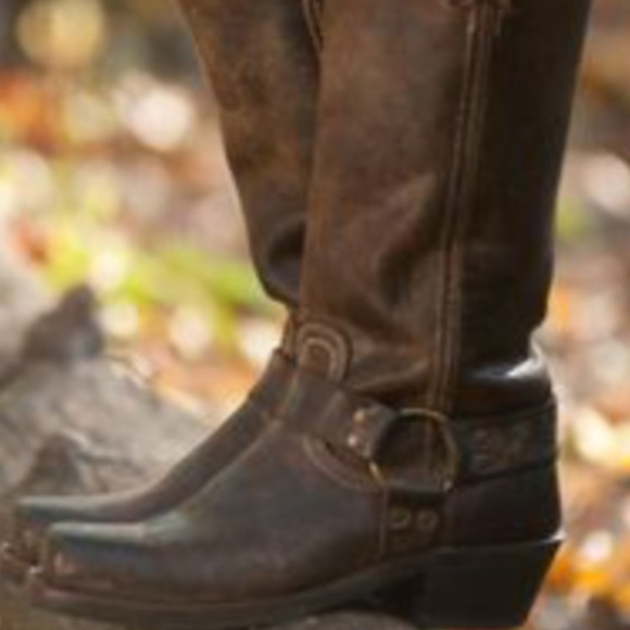 Euc Frye Heirloom Harness Boots 7